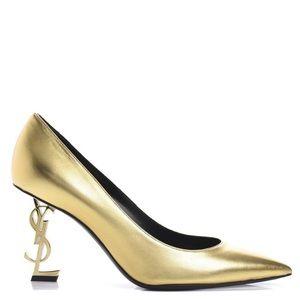 New Size 39 Saint Laurent Opyum Gold Heels